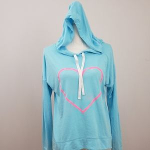 SO Intimates Blue Hoodie with Pink Heart